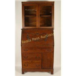Vintage Oak Sectary Desk