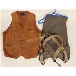 Three Pocket Suede Front Vest