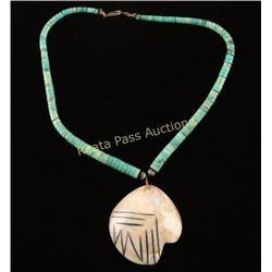 Turquoise & Shell Necklace