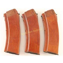 Collection of 3 Bakelite AK Magazines