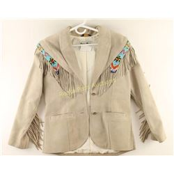 Pioneer Wear Ladies Suede Indian Beaded Jacket
