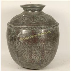 Large Antique Metal Vase