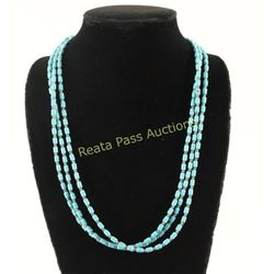 Turquoise Sterling Bead Necklace