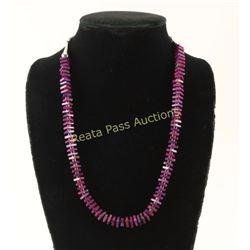 Purple Turquoise Heishi Necklace