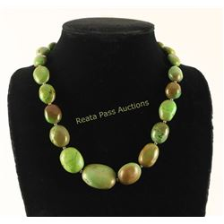 Emerald Valley Turquoise Large Bead Necklace