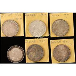 6 Silver Dollars