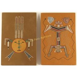 Lot of 2 Navajo Sand Paintings
