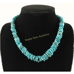 Blue Turquoise Chip Necklace