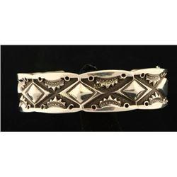 Navajo Hand Hammered Silver Cuff