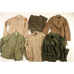 Large Lot of Military Overcoats & Jackets