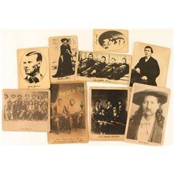 (9) Older Reproduced Photos on cardboard