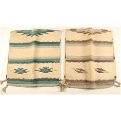 Lot of 2 Double Fold Navajo Saddle Blankets