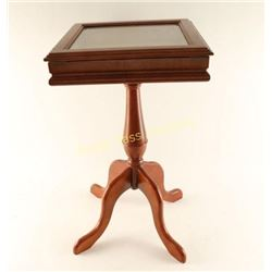 Wooden Shadowbox Side Table