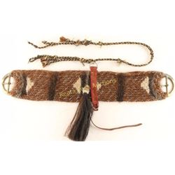 Prison Made Horsehair Headstall & Cinch