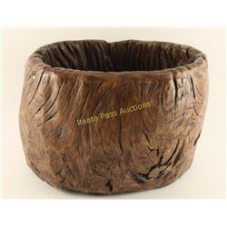 Faux Wood Pot