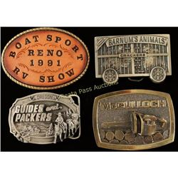Lot of 4 Belt Buckles