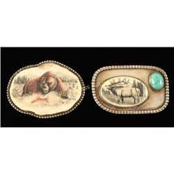 Lot of 2 Belt Buckles