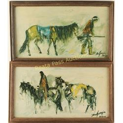 Lot of 2 DeGrazia Prints on Canvas