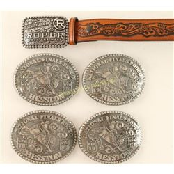 Lot of Rodeo Belt Buckles