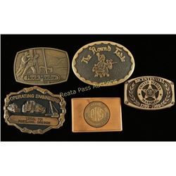Lot of 5 Belt Buckles