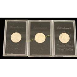 Lot of 3 Eisenhower Proof Dollars