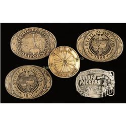Lot of 5 State Related Belt Buckles