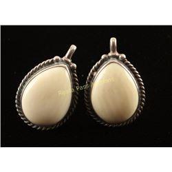 Native American Design Sterling & Stone Earrings
