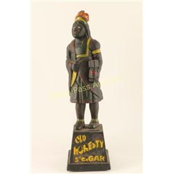 Old Honesty Cigar Store Cast Iron Indian Bank