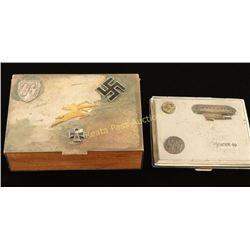 Repro Nazi Cigarette Case & Box