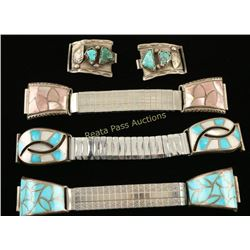 Lot of 4 Native American Watchbands