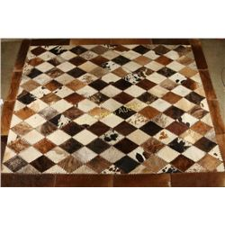 Whipstitched Cowhide Rug