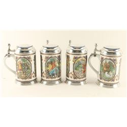 Collection of 4 Villeroy & Boch Beer Steins
