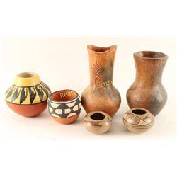 Lot of 6 Small Navajo Pots