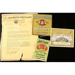 Vintage Jack Daniel's Labels
