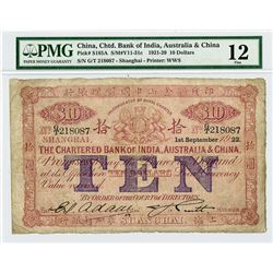 Chartered Bank of India, Australia & China, 1921-1929, Issued Banknote