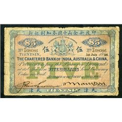 Chartered Bank of India, Australia & China, 1926 Issued Banknote.