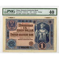 Deutsch-Asiatische Bank, 1907 Peking Branch Issue Rarity.