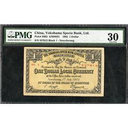"Yokohama Specie Bank, Limited, July 1st, 1902 ""Newchwang"" Branch Banknote."