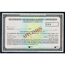 Hongkong and Shanghai Banking Corporation, Negotiable Certificate of Deposit, ND (ca.1940-60's).