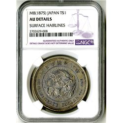 Japan, Empire, 1875, Almost Uncirculated Silver Trade Dollar