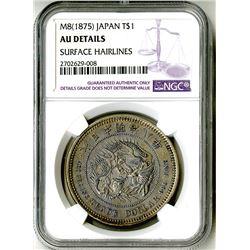 Japan, Empire, 1875, Almost Uncirculated Silver Trade Dollar
