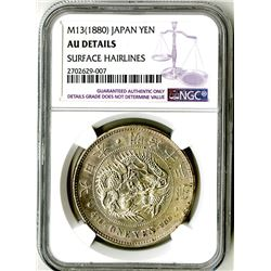 Japan, Empire, 1880, Almost Uncirculated Silver Yen