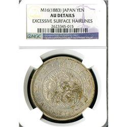 Japan, Empire, 1883, Yen, Meiji 16.