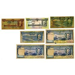 Banco de Angola, 1956-1970, Group of 7 Issued Banknotes
