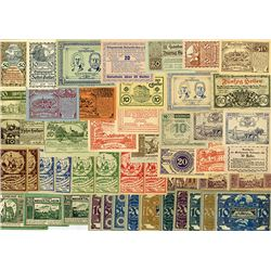 Various Local Issuers, 1920, Notgeld Lot of 142 Notes