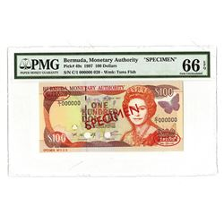 Bermuda Monterey Authority, 1997, Specimen Banknote