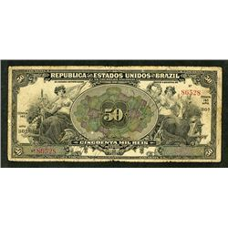 Republica Dos Estados Unidos do Brazil, 1916, Estampa 14A, Issued banknote.