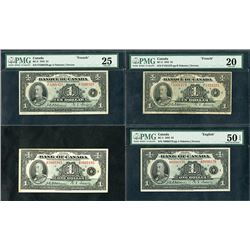 Bank of Canada, 1935, Quartet of Issued Notes