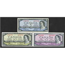 Bank of Canada. 1954 Devil's face issue and modified issue.