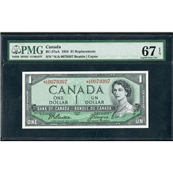 Bank of Canada, 1954, Superb Gem Uncirculated Star Replacement Note